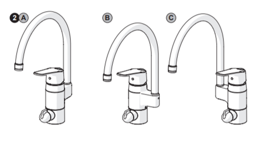 Oras has models that make it possible to place the spout position either on the back or to the left or right of the faucet.