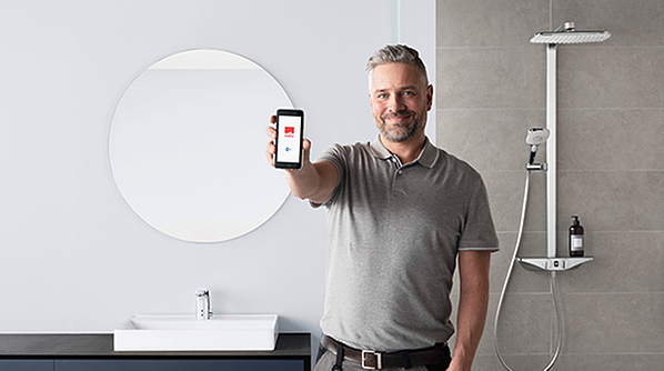 Most of our smart faucets can be controlled using the Oras App based on Bluetooth technology.