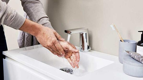 Touchless faucets can save up to 50% in water consumption compared to traditional lever faucets.