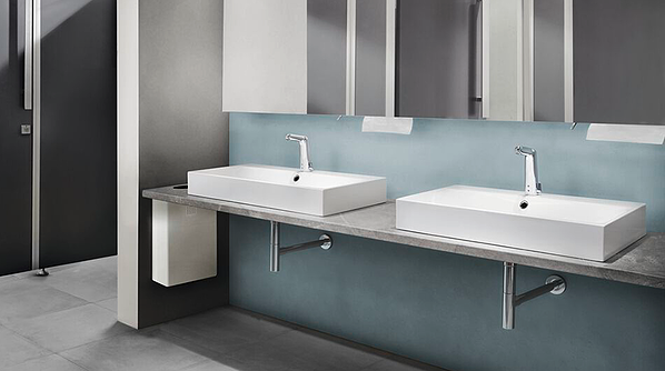 Touchless faucets can help save significant amounts of water and energy in larger buildings
