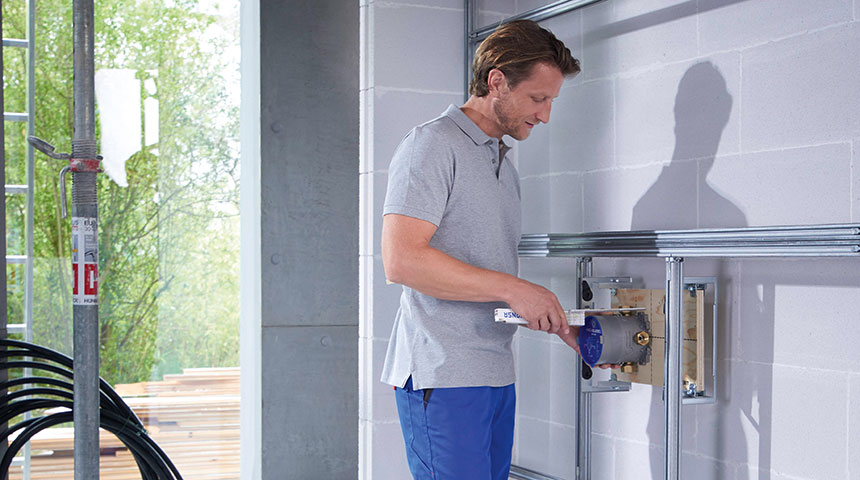 Installing concealed bath and shower systems is easy with Oras Bluebox