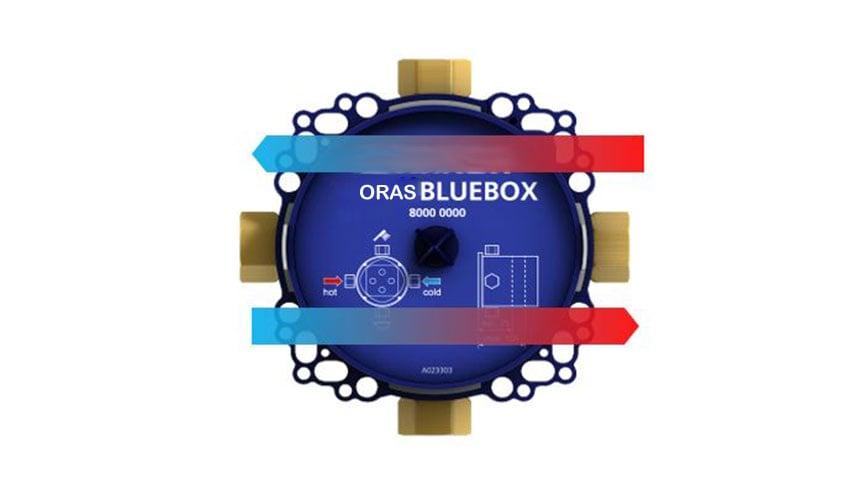 Izmantojot virzienmaiņas adapteri, var pārslēgt karstā un aukstā ūdens ieejas Oras Bluebox uzstādījumos.
