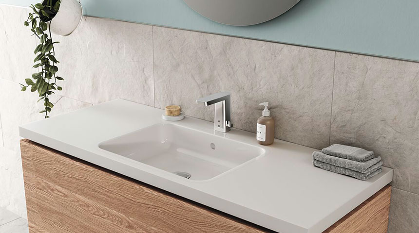 Touchless faucets are a good fit to different bathroom and sink types – they are compact in size and offer added hygiene and functionality.