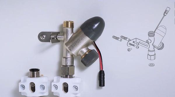 Montering af Oras smart afspærringsventil til opvaskemaskine