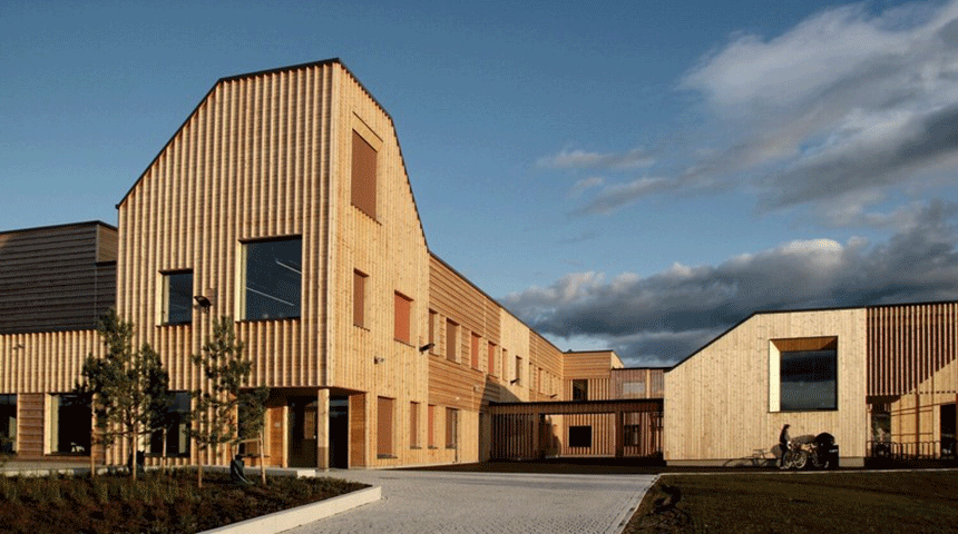 Ydalir school. Photo: Ola Roald Arkitektur AS