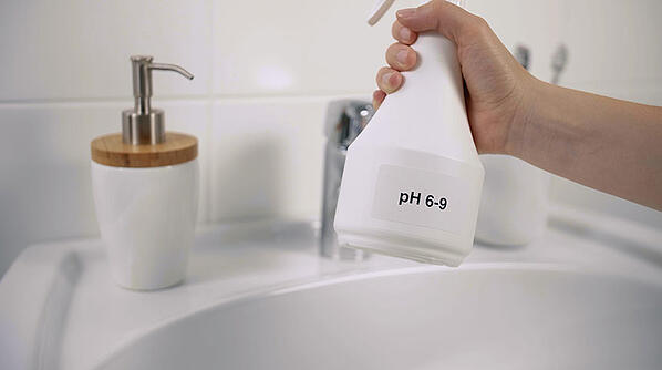 Use a mild cleaning agent (ph 6-9) to clean your faucet.