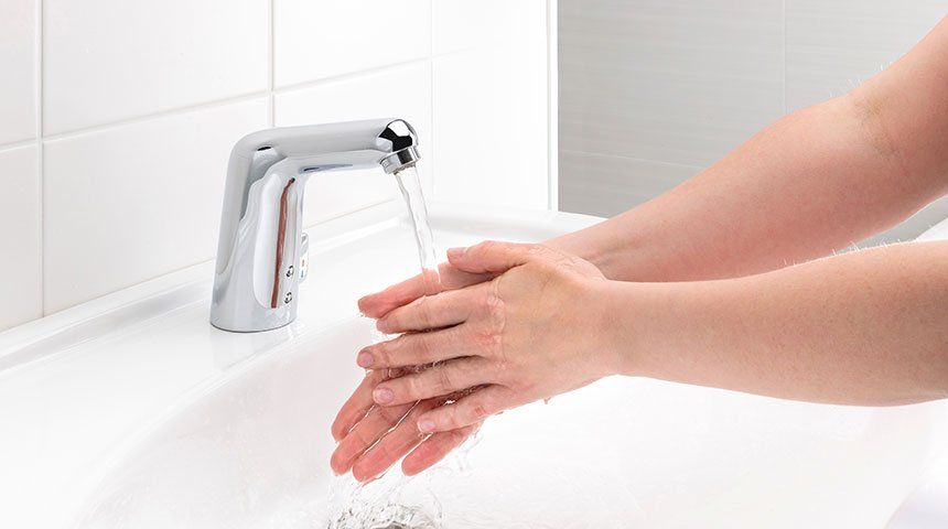 Touchless faucets can eliminate infections transmitted from washbasin and toilet.