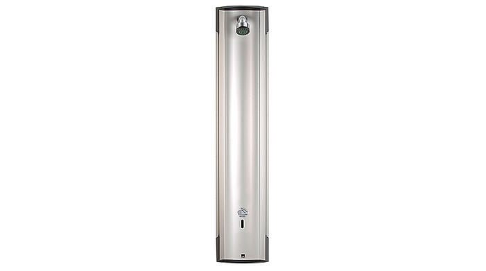 Shower panel for pre-mixed water - available for both 6 V and 12 V.