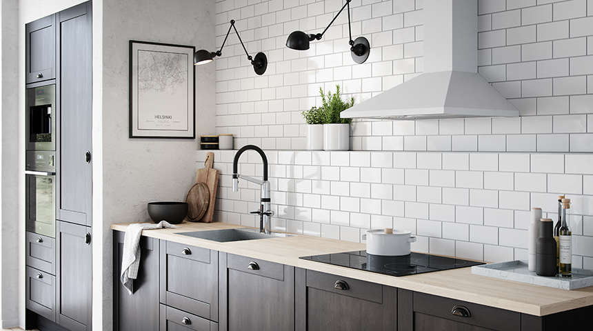 Oras Optima hybrid kitchen faucet is beautiful to look at, with a cool industrial design.