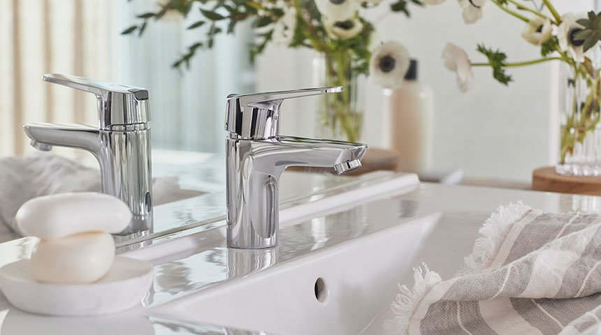 Produkty z linii Oras Vega są wyposażone w ograniczniki wody i temperatury.