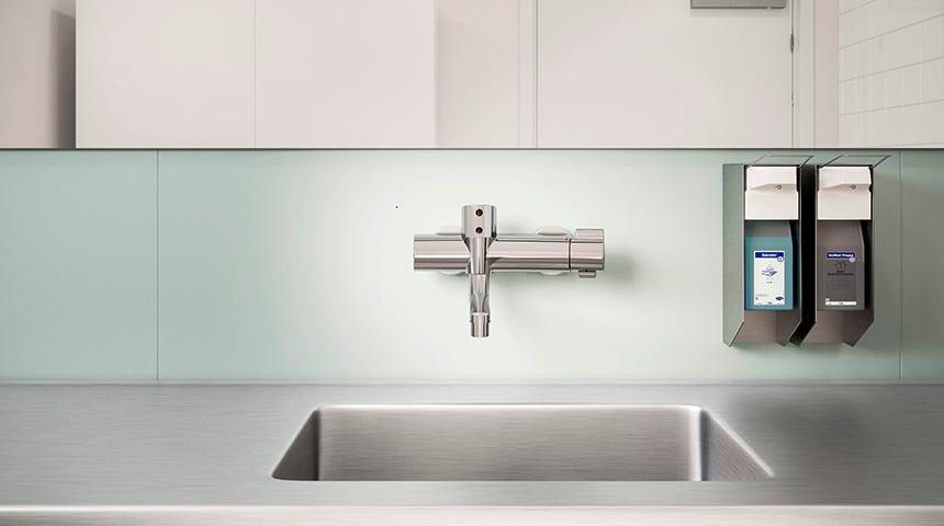 Oras Clinica termostaten øger hygiejneniveauet på installationsstedet.