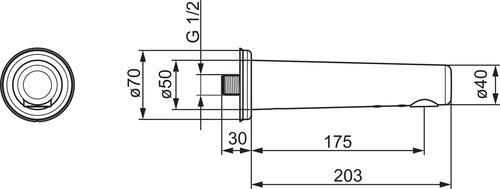 Oras Electra 6188Z, 175mm