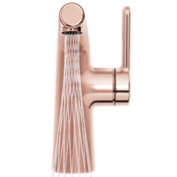 Bateria umywalkowa Oras Inspera w kolorze różowego złota