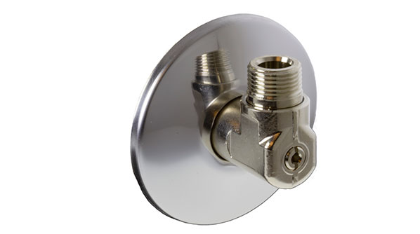 Oras: new angle connector is available with shut-off valves especially designed for connecting the flexible pipes.