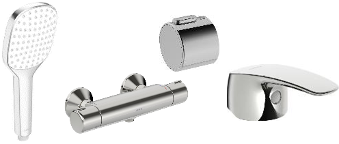 Composite is mainly used in chrome plated parts such as outer bodies and covers, levers and aerators.composite in Oras parts