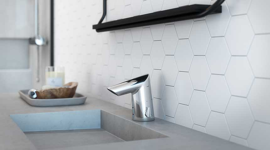 Oras Optima touchless faucets combined design with ecofriendly features.