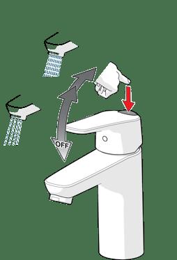 Oras Vega øko-knapp – begrenser både vannmengde og temperatur