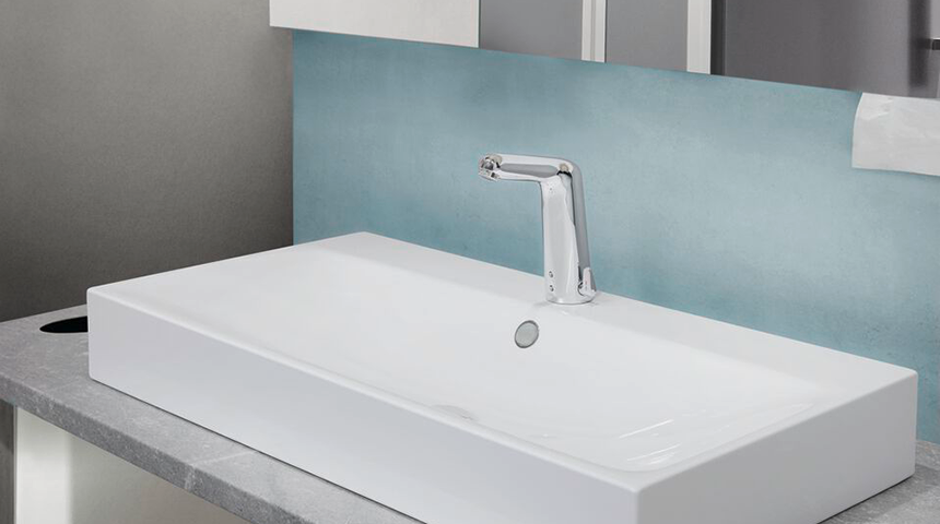 A touchless faucet can be installed even faster than a traditional single-lever mixer faucet.