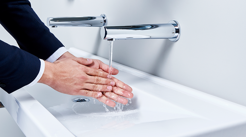 Oras Electra touchless spout faucet now available with Bluetooth® connection