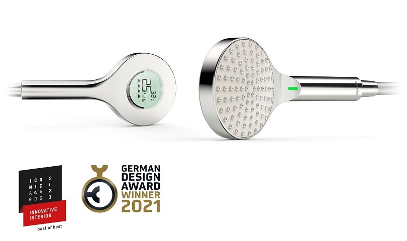 German Design Award 2021 and ICONIC AWARDS 2021: The new Oras digital hand shower wins in three categories