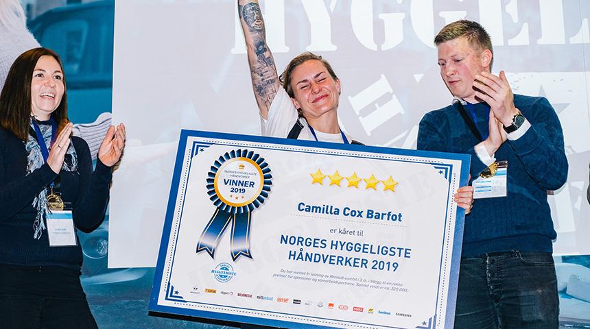 Camilla er Norges Hyggeligste Håndverker 2019!
