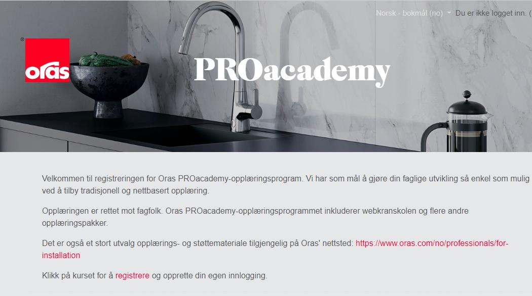 Velkommen til Oras PROacademy